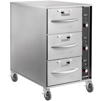 ServIt Mobile Triple Narrow Freestanding Drawer Warmer - 1350W, 120V