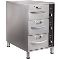 ServIt WDNFS-3 Triple Narrow Freestanding Drawer Warmer - 1350W, 120V