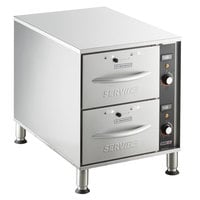ServIt WDNFS-2 Double Narrow Freestanding Drawer Warmer - 900W, 120V