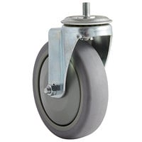 ServIt 5 inch Swivel Plate Caster for Drawer Warmers