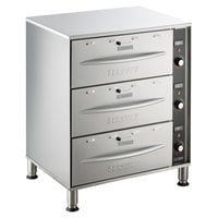 ServIt WDSFS-3 Triple Freestanding Drawer Warmer - 1350W, 120V
