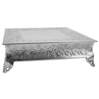 Tabletop Classics by Walco AC87714 14 inch Floral Nickel-Plated Square Cake Stand