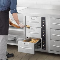 ServIt WDNBI-3K Triple Narrow Built-In Drawer Warmer - 1350W, 120V