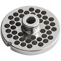 Avantco MG1246 #12 Stainless Steel Grinder Plate for MG12 Meat Grinder - 1/4 inch