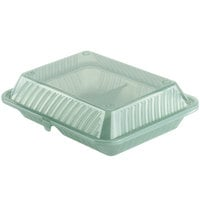 GET EC-15 10 inch x 8 inch x 3 inch Jade Green Customizable 2-Compartment Reusable Eco-Takeouts Container - 12/Case