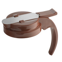 Vollrath 632T-01 Dripcut® Brown Plastic Top for 32 oz. Syrup Servers