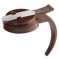 Vollrath 614T-01 Dripcut® Brown Plastic Top for 14 and 16 oz. Syrup Servers