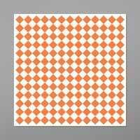GET P-ORC-1212-W 12 inch x 12 inch Orange Check Deli Sandwich Wrap Paper - 1000/Case