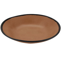GET B-420-TP Pottery Market 1.3 Qt. Matte Speckled Brown Melamine Salad / Pasta Bowl - 12/Pack
