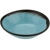 GET B-180-GBL Pottery Market 16 oz. Matte Speckled Grayish Blue Melamine Salad Bowl - 12/Pack