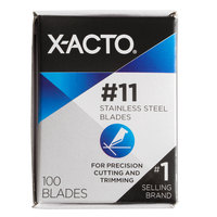 X-Acto SS X621 #11 Stainless Steel Knife Blade - 100/Box