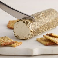 Celebrity Goat 10.5 oz. Garlic and Herb Goat Cheese Log - 6/Case