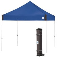 E-Z Up VG3WH10RB Vantage Instant Shelter 10' x 10' Royal Blue Canopy with White Frame