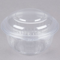 Dart C16HBD PresentaBowls 16 oz. Clear Hinged Plastic Bowl with Dome Lid - 300/Case