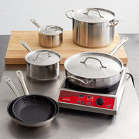 Vigor 10-Piece Stainless Steel Induction Ready Cookware Set