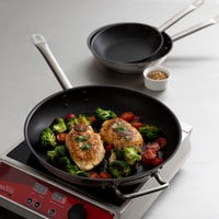 Vigor 3-Piece Stainless Steel Non-Stick Fry Pan Set with Aluminum-Clad Bottom and Excalibur Coating - 8 inch, 9 1/2 inch, and 12 inch Frying Pans