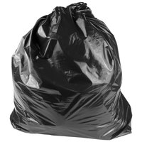 Li'l Herc Medium Black Trash Bag 33 Gallon 1.5 Mil 33 inch x 39 inch Low Density Can Liner - 100/Case