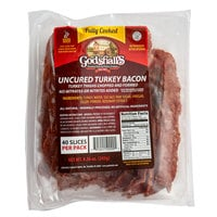 Godshall's 40 Slices Fully Cooked All Natural Uncured Turkey Bacon - 6/Case