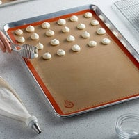 Mercer Culinary M31087OR Full Size Orange Silicone Baking Mat