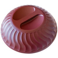 Dinex DX340061 Turnbury Cranberry Insulated Meal Delivery Dome for 9 inch Plate - 12/Case