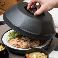 Dinex DX440003 Heritage Onyx Insulated Meal Delivery Dome for 9 inch Plate - 12/Case
