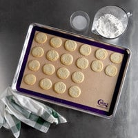 Choice 16 1/2 inch x 24 1/2 inch Full Size Allergen Free Purple Silicone Non-Stick Baking Mat
