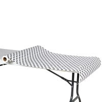 40 inch x 100' Paper Table Cover with Black Polka Dots