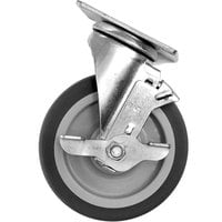 Carlisle IT410CSB00 5 inch Swivel Plate Caster with Brake for IT410