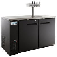 Avantco UDD-2-HC Four Tap Kegerator Beer Dispenser - Black, (2) 1/2 Keg Capacity