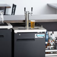 Avantco UDD-1-HC Double Tap Kegerator Beer Dispenser - Black, (1) 1/2 Keg Capacity