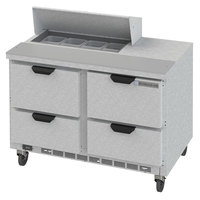 Beverage-Air SPED48HC-08-4 48 inch 4 Drawer Refrigerated Sandwich Prep Table