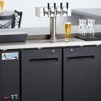Avantco UDD-48-HC Four Tap Kegerator Beer Dispenser - Black, (2) 1/2 Keg Capacity