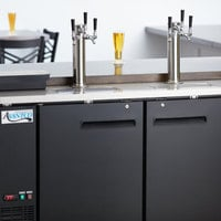 Avantco UDD-60-HC (2) Triple Tap Shallow Depth Kegerator Beer Dispenser - Black, (2) 1/2 Keg Capacity
