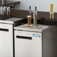 Avantco UDD-1-HC-S Double Tap Kegerator Beer Dispenser - Stainless Steel, (1) 1/2 Keg Capacity