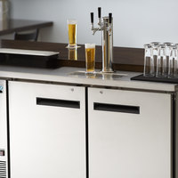 Avantco UDD-2-HC-S Triple Tap Kegerator Beer Dispenser - Stainless Steel, (2) 1/2 Keg Capacity