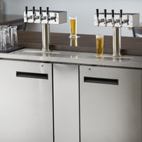 Avantco UDD-3-HC-S (2) Four Tap Kegerator Beer Dispenser - Stainless Steel, (3) 1/2 Keg Capacity