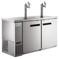 Avantco UDD-60-HC-S (2) Triple Tap Kegerator Beer Dispenser - Stainless Steel, (2) 1/2 Keg Capacity