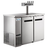 Avantco UDD-48-HC-S Four Tap Shallow Depth Kegerator Beer Dispenser - Stainless Steel, (2) 1/2 Keg Capacity