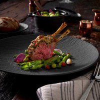 Villeroy & Boch 16-4074-2630 The Rock 10 inch Black Shale Coupe Flat Porcelain Plate - 6/Case