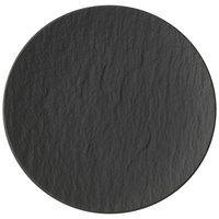 Villeroy & Boch 16-4074-2661 The Rock 6 1/4 inch Black Shale Coupe Flat Porcelain Plate - 6/Case