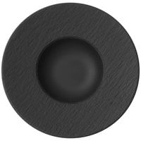 Villeroy & Boch 16-4074-2700 The Rock 11 1/4 inch x 5 1/2 inch Black Shale Deep Porcelain Plate - 6/Case