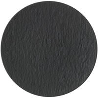 Villeroy & Boch 16-4074-2595 The Rock 12 1/2 inch Black Shale Coupe Flat Porcelain Plate - 6/Case