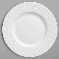 Villeroy & Boch 16-4077-2640 The Rock 8 1/2 inch White Glacier Flat Porcelain Coupe Plate - 6/Case