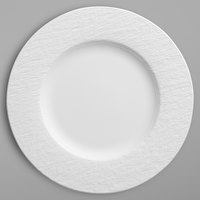 Villeroy & Boch 16-4077-2620 The Rock 10 1/2 inch White Glacier Flat Porcelain Plate - 6/Case