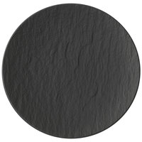 Villeroy & Boch 16-4074-2650 The Rock 8 1/4 inch Black Shale Coupe Flat Porcelain Plate - 6/Case