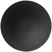 Villeroy & Boch 16-4074-2701 The Rock 11 1/4 inch Black Shale Coupe Deep Porcelain Plate - 6/Case