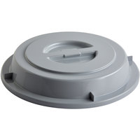 Schonwald 9441250-10113 Donna Senior 9 1/2 inch Gray PBT Plastic Round Plate Cover - 6/Case