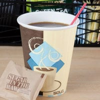 Solo IC8-J7534 Duo Shield 8 oz. Poly Paper Hot Cup - 1000/Case