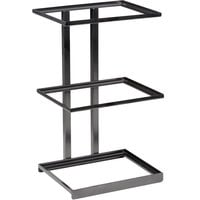 GET Enterprises MTS-20L-MG Urban Renewal 12 inch x 9 1/4 inch x 20 1/2 inch Metal Gray Rectangular 3-Tier Merchandiser Stand