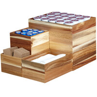 GET Enterprises WB-964WD-UR Urban Renewal 9 inch x 6 inch x 4 inch Urban Rustic Rectangular Stackable Wood Display Box